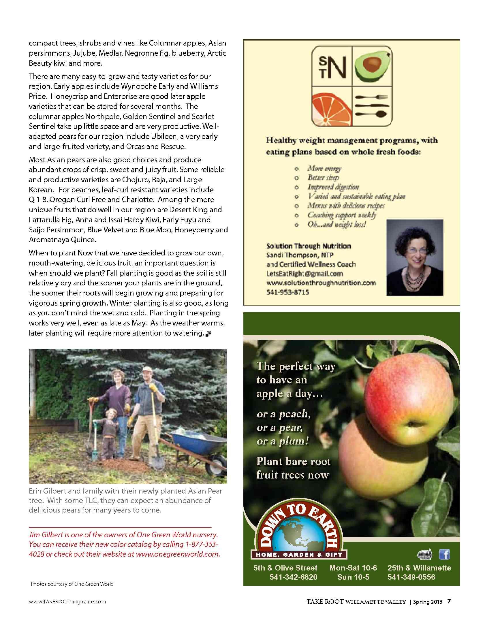 Duhn Associates Take Root Magazine Spring 2013